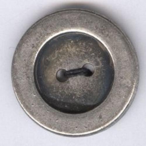 Metallinappi 20 mm kaksireikäinen antiikkihopea