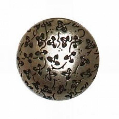 Metallinen kantanappi 23 mm pyöreä