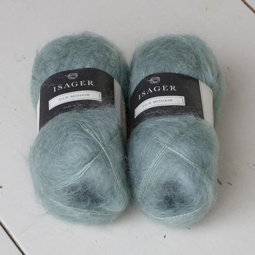Isager Silk Mohair 67 vedensininen