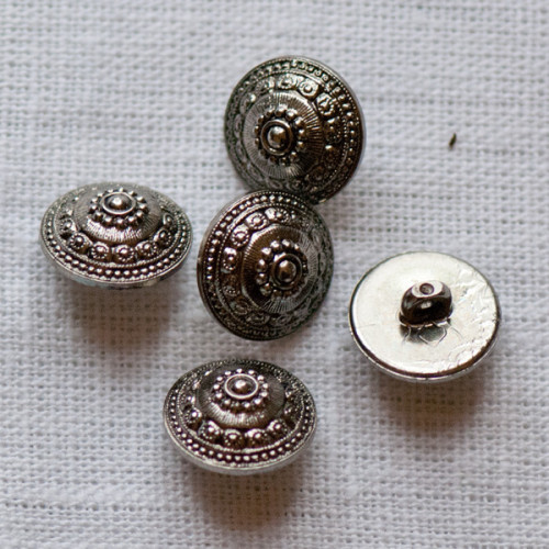 Silver-Colored Button