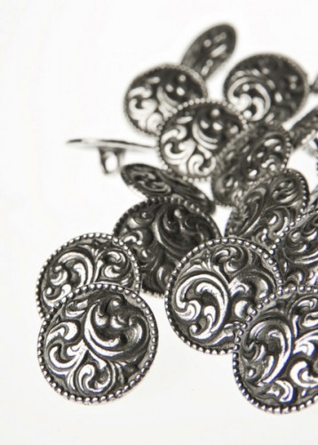Aase nr. 22 -metallinen kantanappi 17 mm