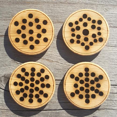 Snowflake Button, 3.2 cm