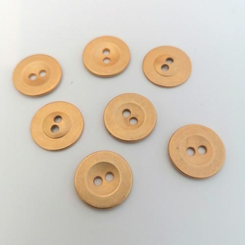 Metallinappi pyöreä kulta 18 mm