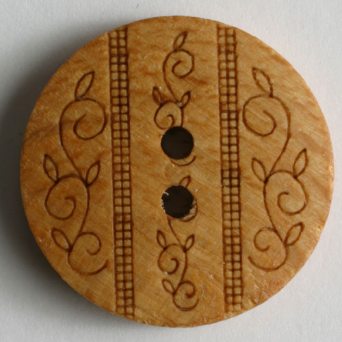 Puunappi ornamentti, 23 mm