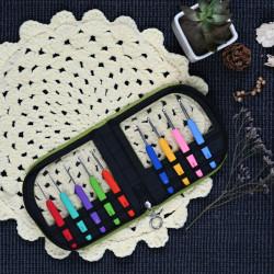 Waves Crochet Hook Set Green Case